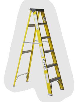 Sturdy Ladder Fiberglass Stepladders